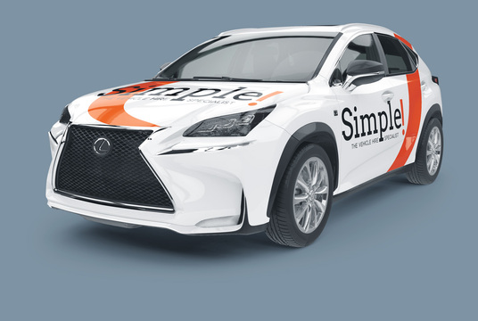 I will apply a design  to this car using your logo and text