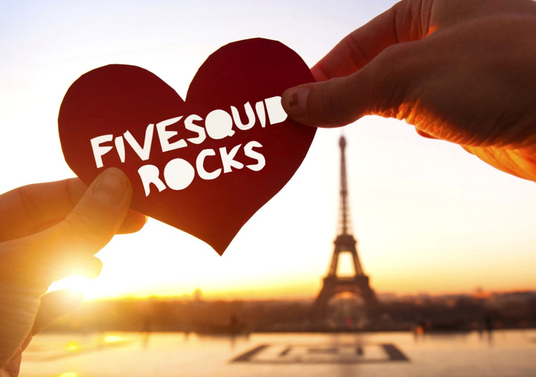 I will place your text on paper heart in front of Eiffel tower