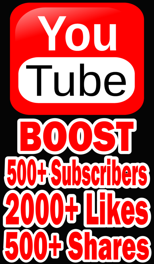 I will Do massive Youtube promotion to Add 500+ Subscribers, 2000+ Video Likes, 500+ Shares
