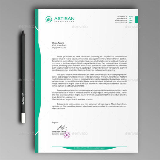 I will Create For YOU a Business LETTERHEAD using your Logo