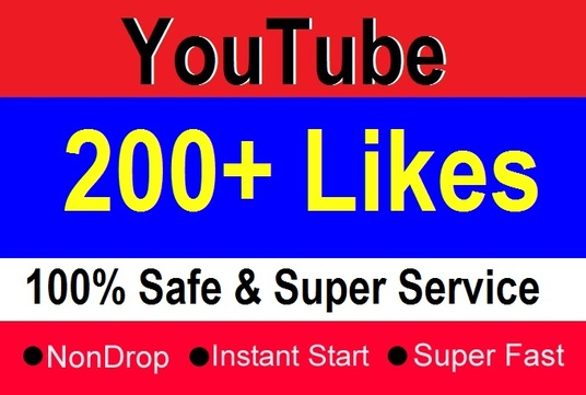 I will provide 200+ Real YouTube Likes to your Video