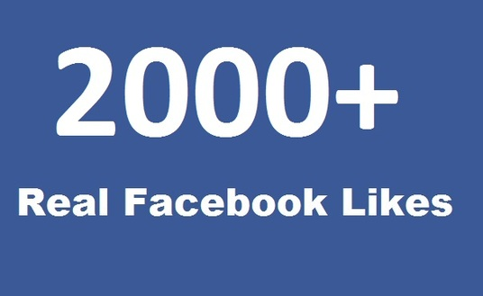 I will add 2000 real facebook likes on fanpage