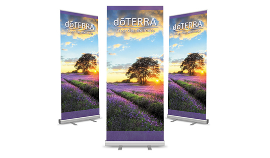 create a stand up or roller banner with any size
