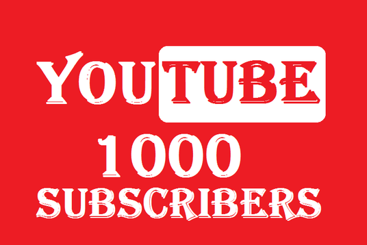 I will provide you 1000  Real YouTube subscribers Guaranteed Real
