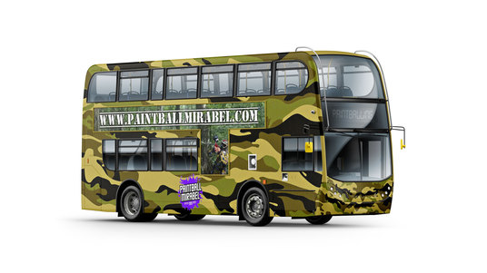 I will put your ad on the side of the bus, change the colour &  add your logo