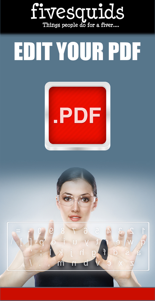 I will edit your PDF quickly