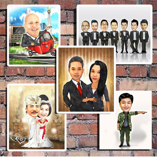 I will draw CARTOON caricature from your photo