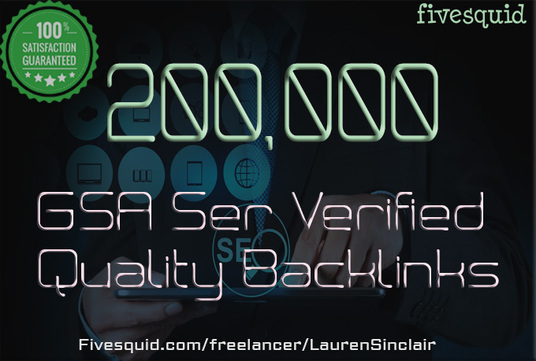 I will provide 200,000 Gsa Ser Verified Quality Backlinks