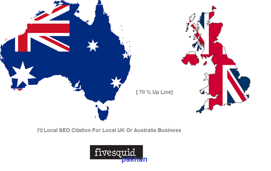 I will Manually Create  75 Local SEO Citations For  Australia or UK
