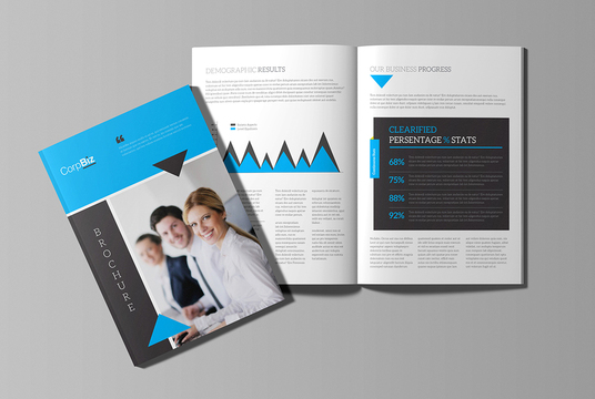I will create corporate brochure design, booklet, handout, leaflet or magazine