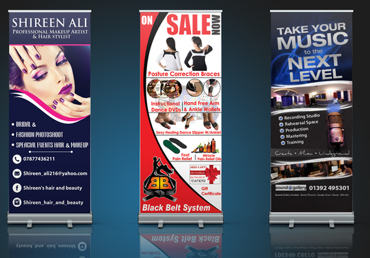 I will design Eye Catching Roll up Banner for you