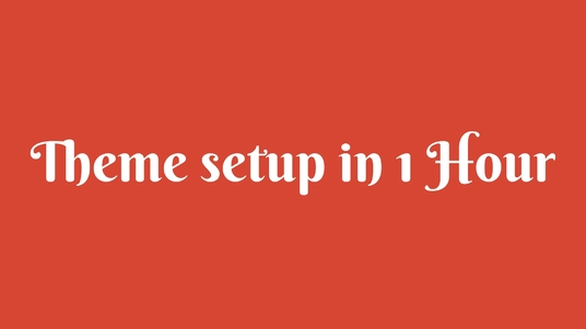 I will Setup Wordpress Theme exactly as it's Demo within 1 Hour