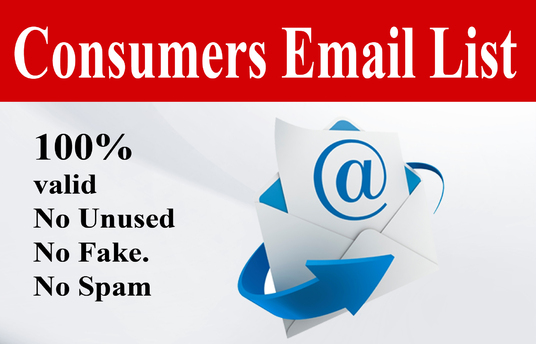 I will provide you 10K consumers email list that boost sales