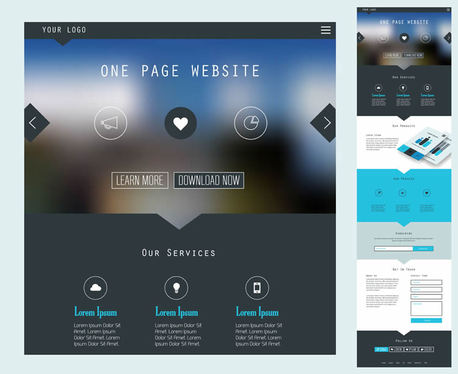 create responsive single page website
