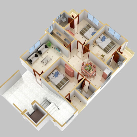 I will Create Awesome 3d Model And Architectural 3d Rendering