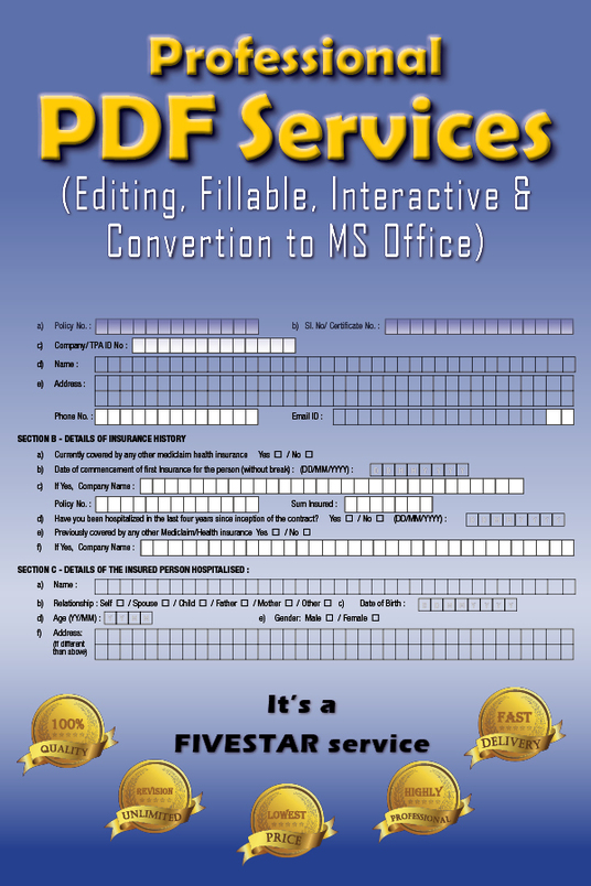 I will create Fillable pdf Form and Edit Pdfs