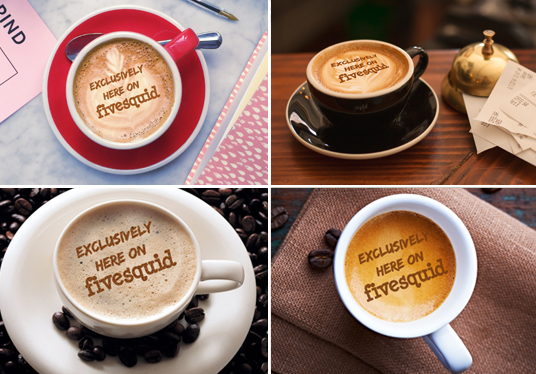 I will put your logo or name on 4 coffee cups