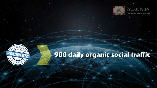 I will send 900+ targeted organic social WEB TRAFFIC for your site