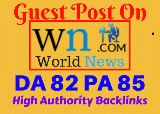 I will Write Article And Publish Guest Post on WN COM