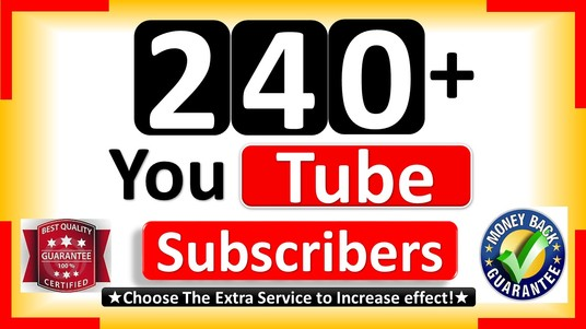 I will Promote 240+ YouTube subscribers, Non Drops and Active User