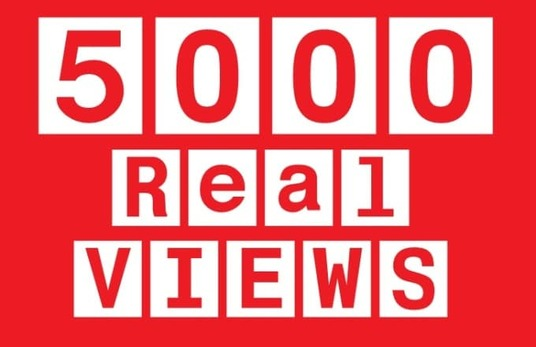 I will Give you 5000++ Real High Retention YouTube Views