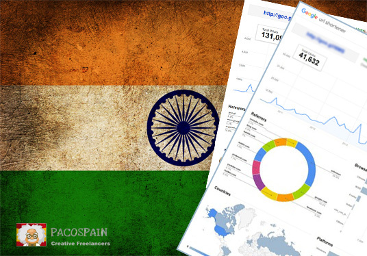 send 250 Indian Targeted Visitors for 30 Days with low bounce rate