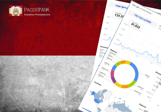 send 250 Indonesia Targeted Visitors for 30 Days with low bounce rate