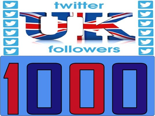 I will Give you 1,000+High Quality (Uk) followers NO EGGS