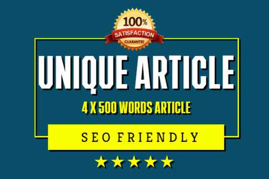 I will Do 4 X 500 Words Article