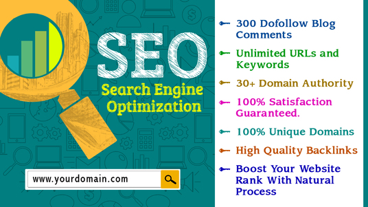 provide 300 DA30+ Dofollow blog comments Penguin And Panda Safe Index by google
