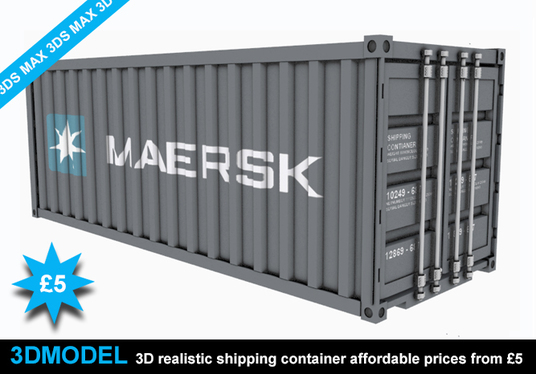 I will Create Realistic 3d Model Shipping Container