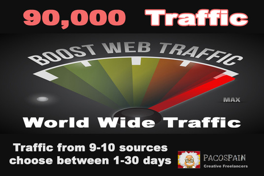 I will give you 90,000 traffic from 9 sources in the days YOU want