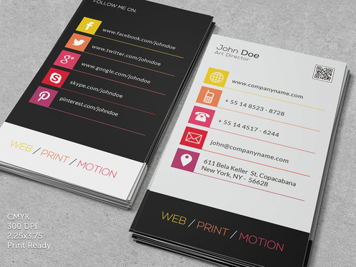 design CLASSIC Vertical Business Card or Visiting Card