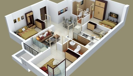 I will create 3d floor plan, exterior and interior model