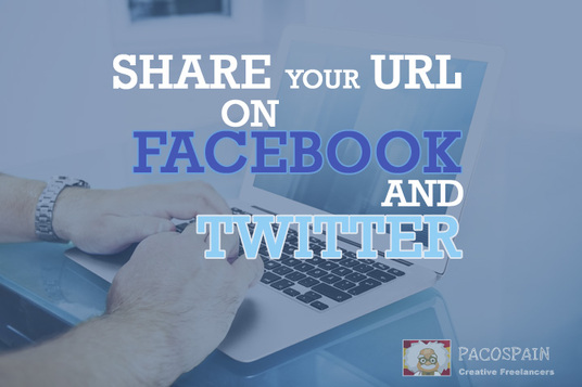 share your link on Twitter and Facebook 320 times and on 3 other platforms