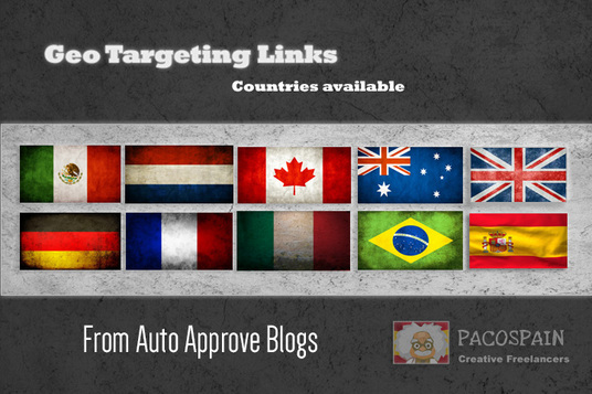 I will create backlinks, exclusively on country specific domains - 10 countries available.