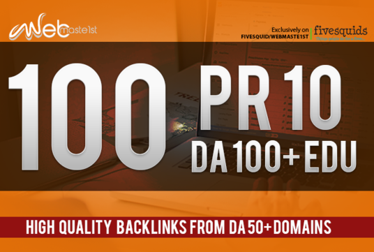 I will boost Your RANKINGS with High Quality DA 50+ Domains Backlinks