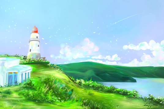I will create a digital illustration with background/scenery