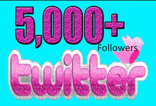 I will Give you 5000+ REAL Twitter Followers