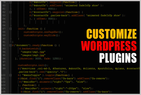customize Wordpress plugin on your website