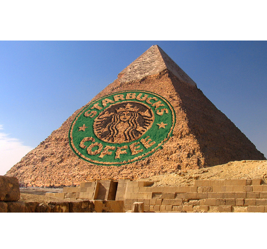 I will promote your ad or logo into an ancient pyramid