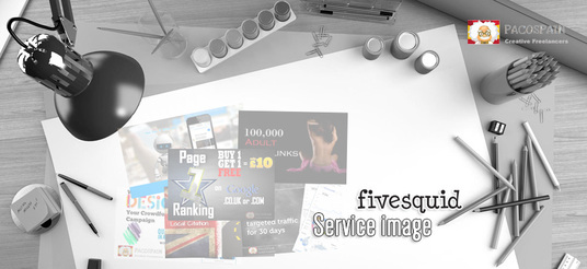 design a stunning Fivesquid service image