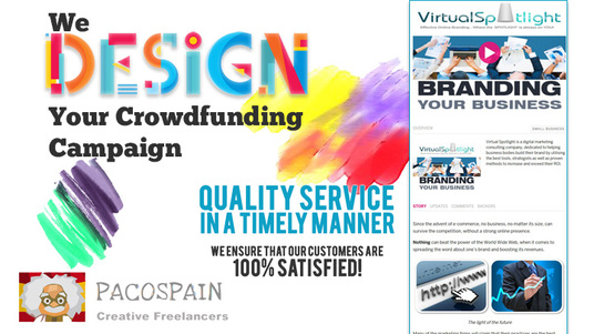 I will design you a stunning fundraiser or crowdfunding page plus Bonus