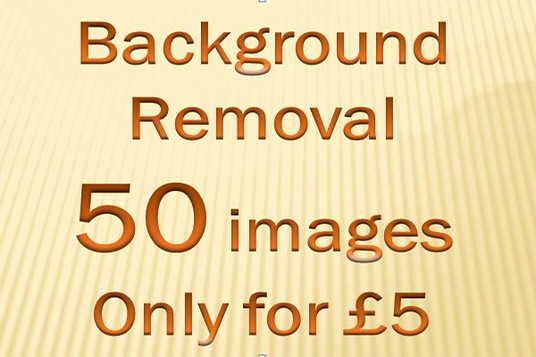 I will do any 50 images background removal