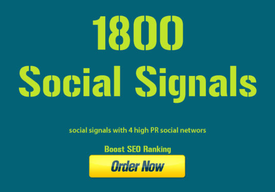 I will Give 1,800 Organic Social Signals from top social media sites to boost your website Google