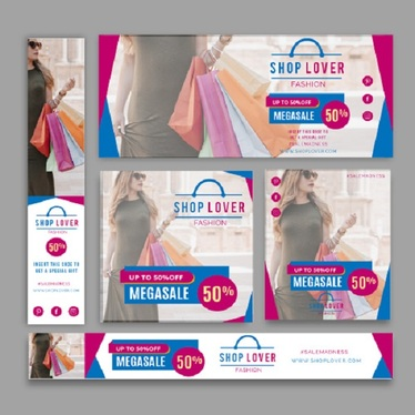 design a professional web banner for ads