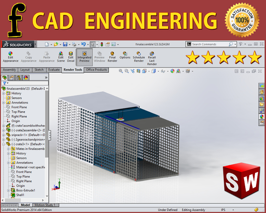I will do 3D  Mechanical Engineering Designs in Solidworks
