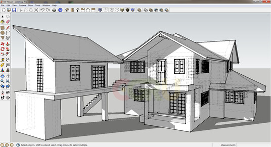 Sketch Up Impressive 3d Floor Plans model
