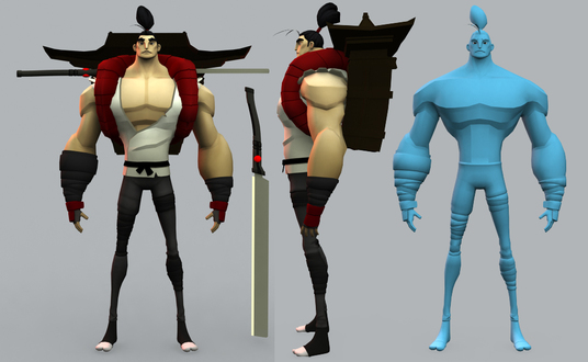 I will design 3d low poly character design