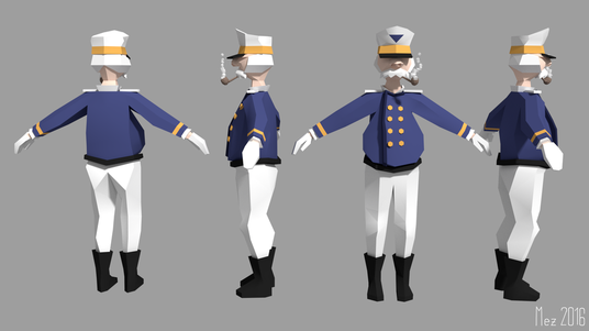design 3d low poly character design